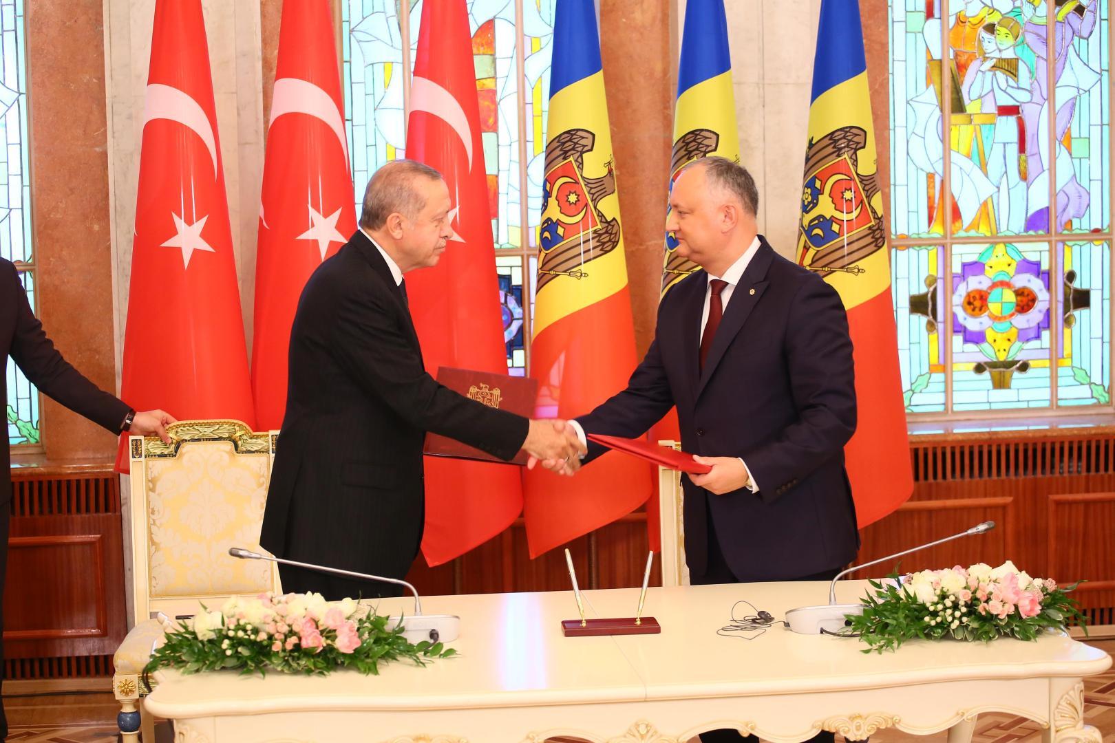 Presedintele de la Chisinau, Igor Dodon, mizeaza pe sprijinul omologului sau turc, Recep Tayyip Erdogan