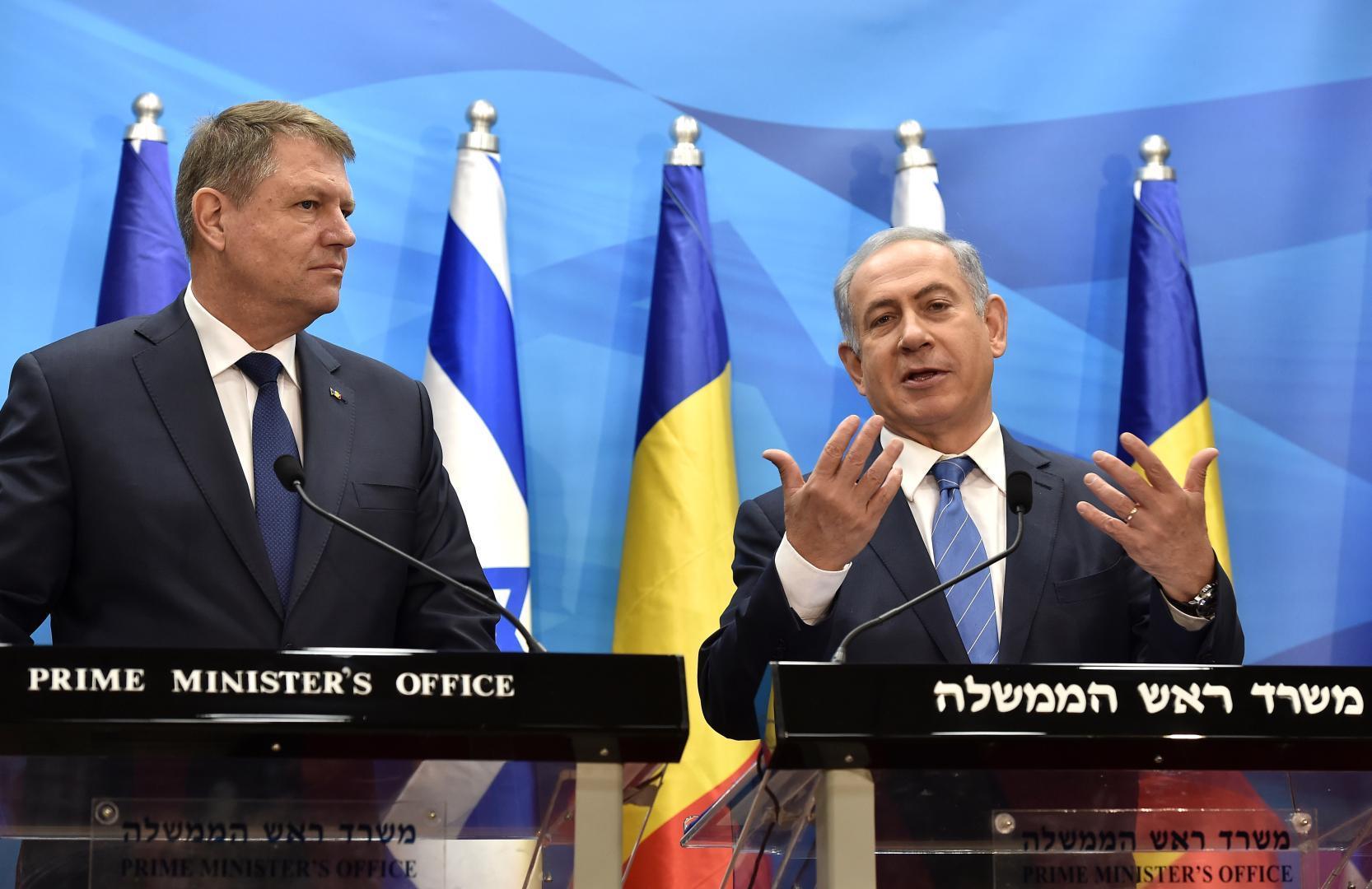 Președintele român Klaus Iohannis refuză momentan mutarea ambasadei statului român la Ierusalim
