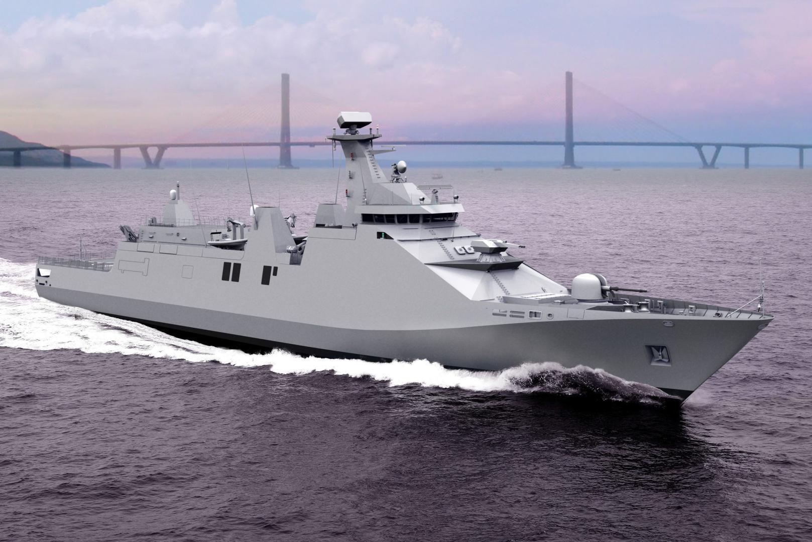 Posibilul model al corvetelor multifuncționale pentru flota română