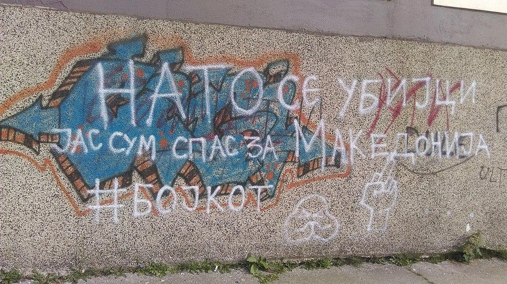 O parte a populației macedonene se opune integrării în NATO