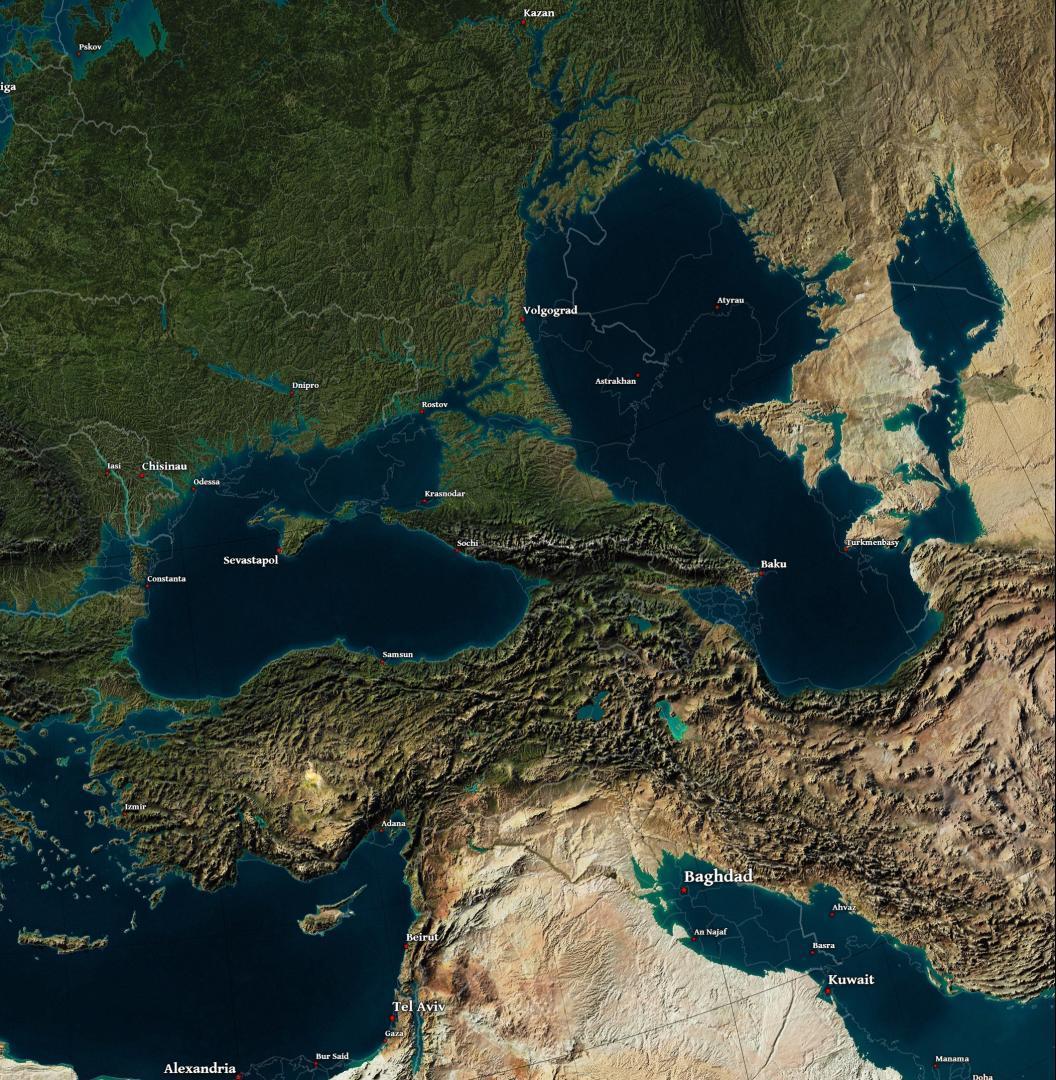Marea Caspică-Marea Neagră, axă strategică