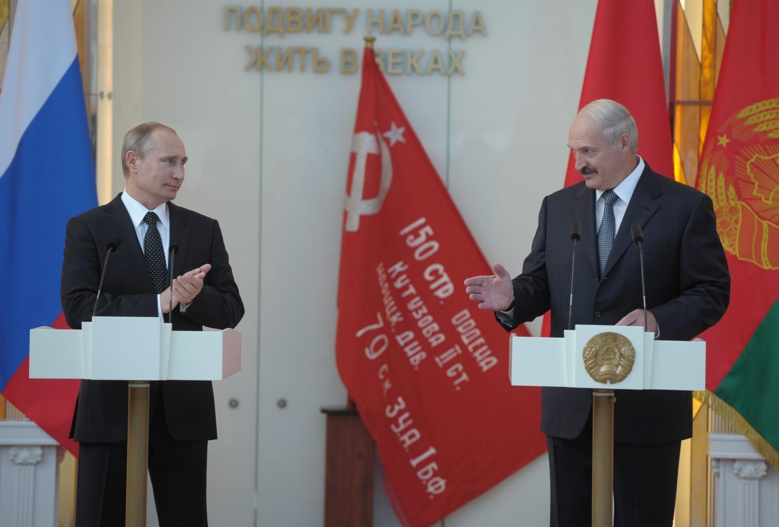 Vladimir Putin, aliat de nădejde al liderului de la Minsk