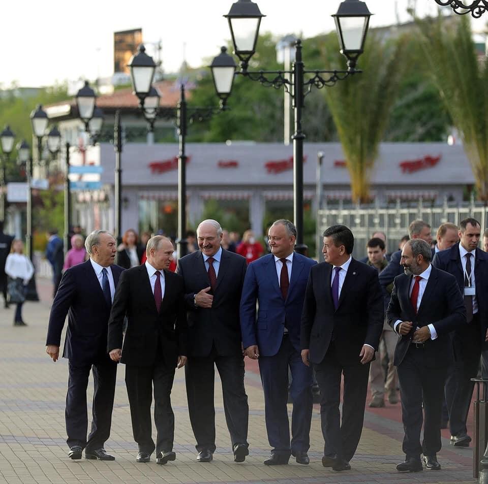 Președintele rus Putin, alături de liderii statelor membre UEEA