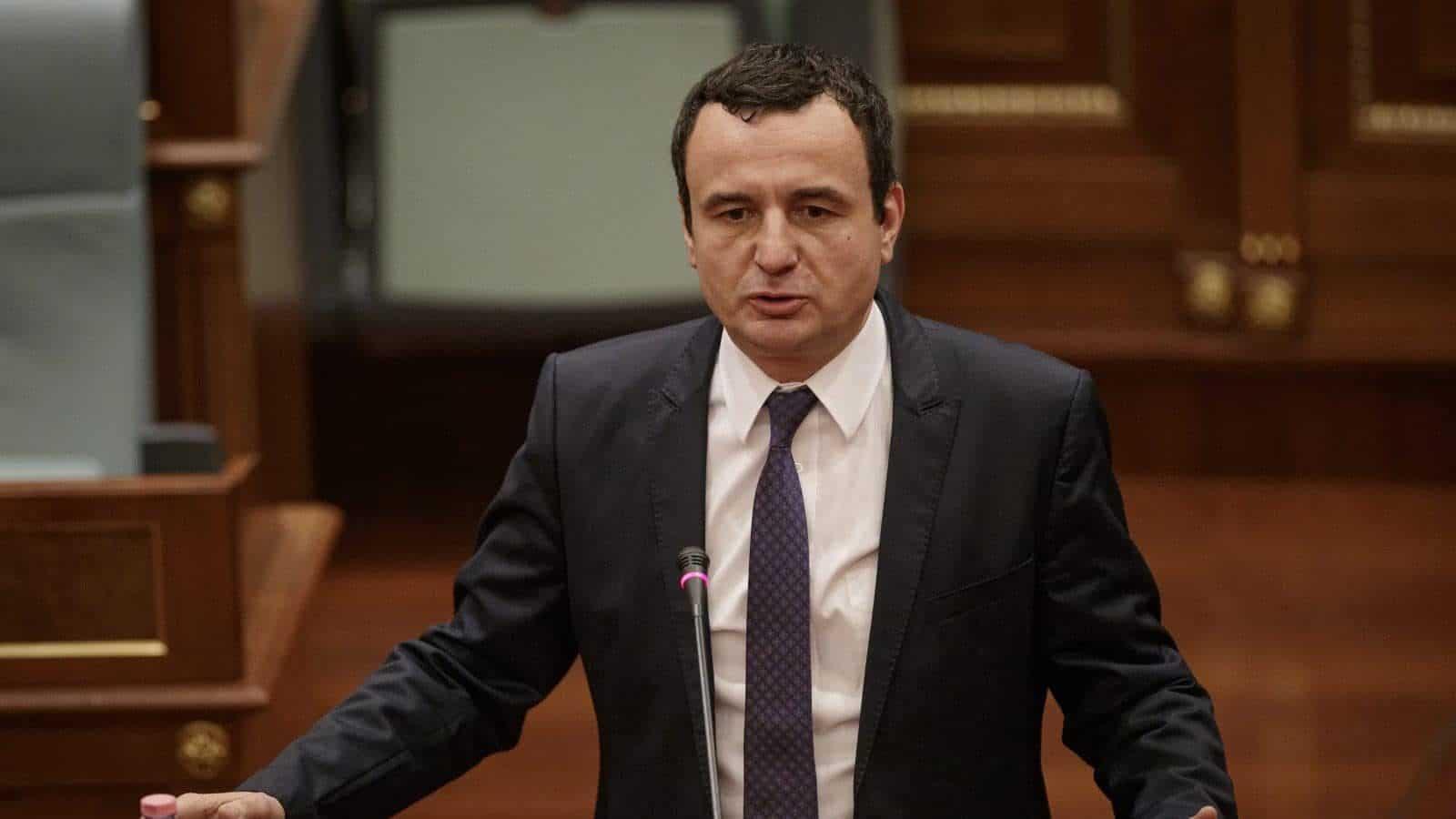 Premierul interimar Albin Kurti, îngrijorat de planurile administrației Trump în regiune